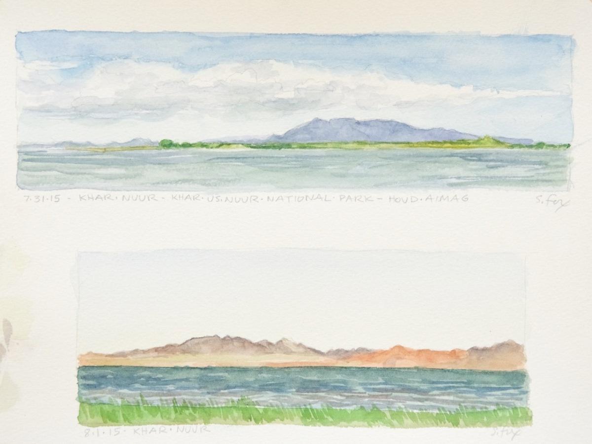 Views across Khar Nuur, Khar Us Nuur National Park