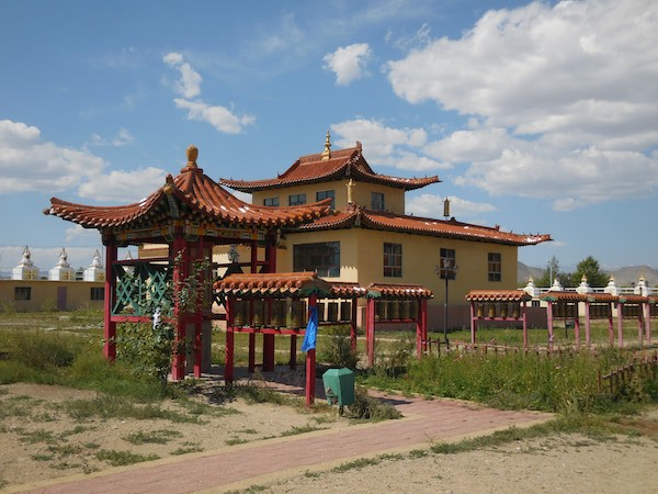 Temple in new monastery complex in Hovd