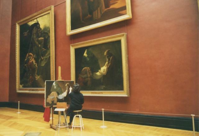 paris louvre painter 2