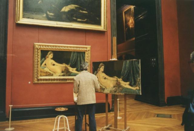 paris louvre painter