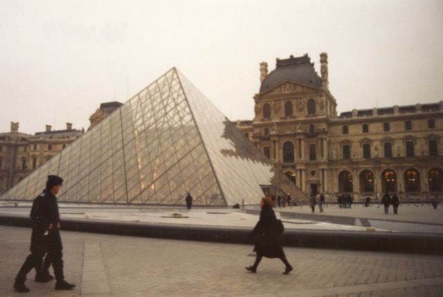 The Louvre courtyard and the Pyramid