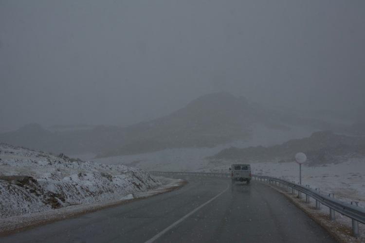12. snow and van
