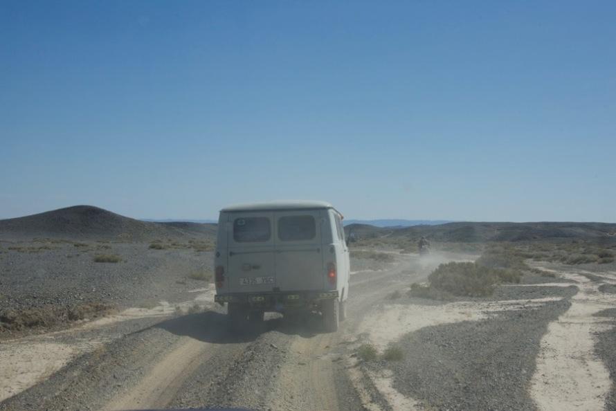 22. van heading south