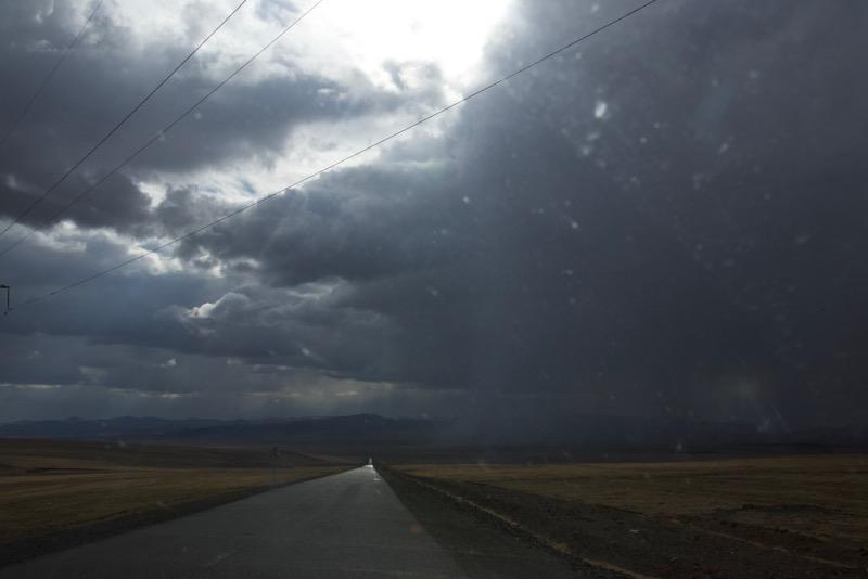 9. road and rain