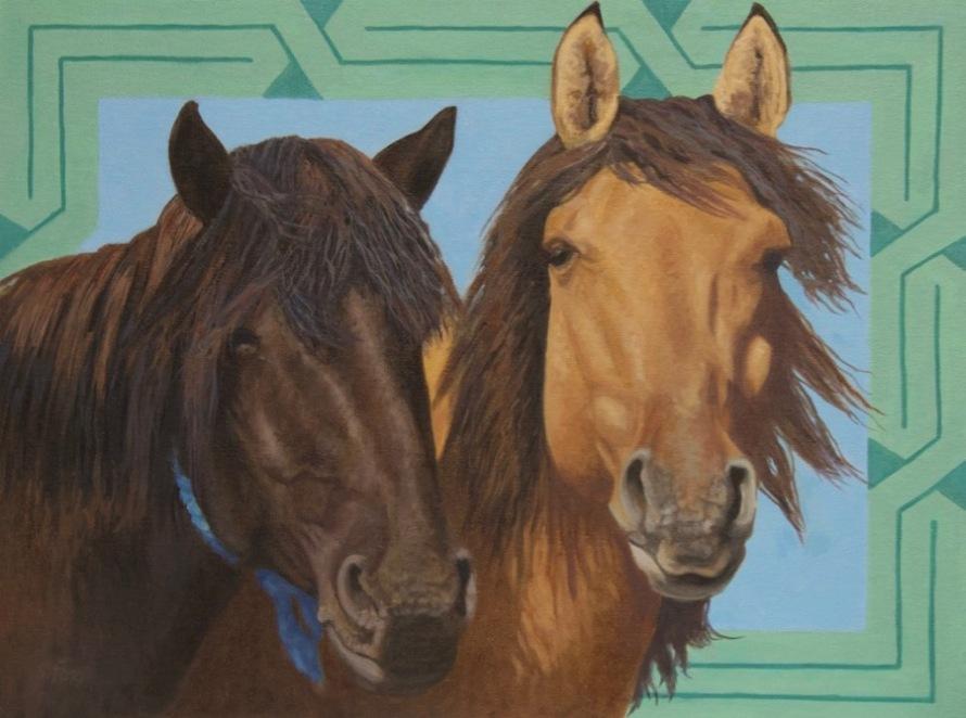Mongol Horse #9- Friends