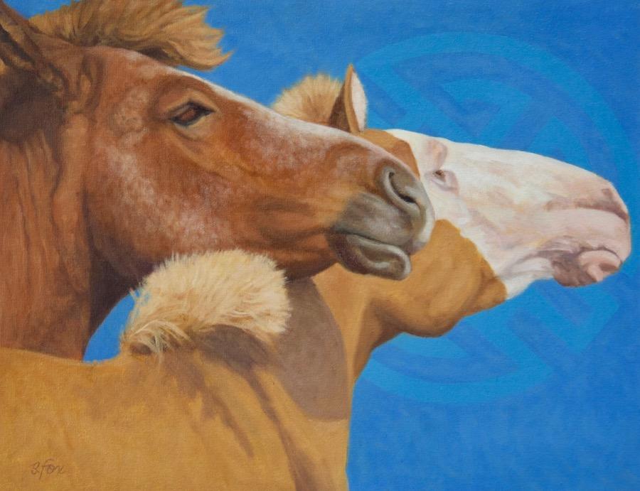 """""""Mongol Horses"""" oil 14x18"""""""