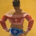 Mongol Wrestler oil 12×12″ 900