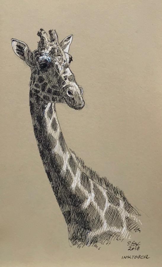 "Inktober 14- ""Giraffe"""