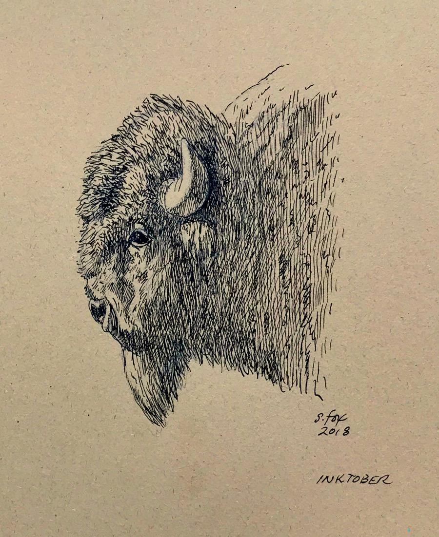 """Inktober 16 """"Bison"""